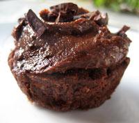 Raw chocolate cupcake